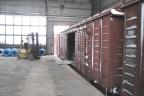 Terminal intermodalny z torem szerokim i normalnym, zakład konstrukcji stalowych