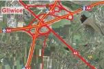 Działka doskonale widoczna a autostrady A1 przy węźle Gliwice - Sośnica