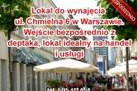 Lokal do wynajęcia Chmielna 6, Warszawa - witryna i wejście z deptaka - na handel i usługi