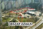 Działka w Poznaniu (Rataje) os. Rusa handel, usługi, biurowiec, salon