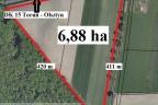 Sprzedam teren inwestycyjny 6,88 ha przy drodze krajowej nr 15  w okolicy Golubia Dobrzynia