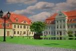 Nieruchomość komercyjna w budowie z zabytkowym parkiem