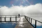 Ośrodek wypoczynkowy nad jeziorem z linią brzegową