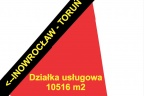 Działka inwestycyjna o powierzchni 10516 m2 zlokalizaowana w mieście Inowrocław