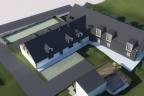 Zabudowana nieruchomość z pozwoleniem  na budowę pensjonatu