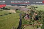 Dawna gorzelnia z linią brzegową rzeki Wierzyca