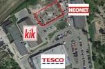 Działka bezpośrednio obok marketu Tesco, Neonet, Kik,  90% zab. w Mpzp