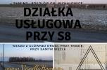 Działka usługi przy trasie S8 przy węźle Warszawa 5406m2