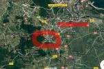 Działka usługowa Gdańsk Kowale 5 arów obok drogi wojewódzkiej obwodnica Trójmiasta