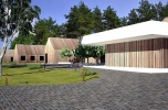 Działka w pięknej okolicy w otoczeniu lasu - koncepcja domu spokojnej starości