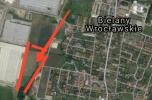 Grunt przy wielkim osiedlu pod handel detaliczny, hurtowy w Bielany Wrocławskie
