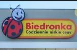 Park handlowy z Biedronką pod Warszawą