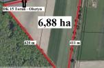 Sprzedam teren 18800 m2 -  30 km od Torunia przy drodze krajowej Toruń - Olsztyn