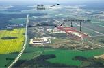 Teren inwestycyjny 21 ha, przy autostradzie A4 media, mpzp, bezpośredni zjazd
