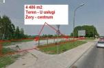 Teren usługowy centrum Żor - 4486m2
